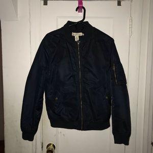 H&M Navy Blue Bomber Jacket